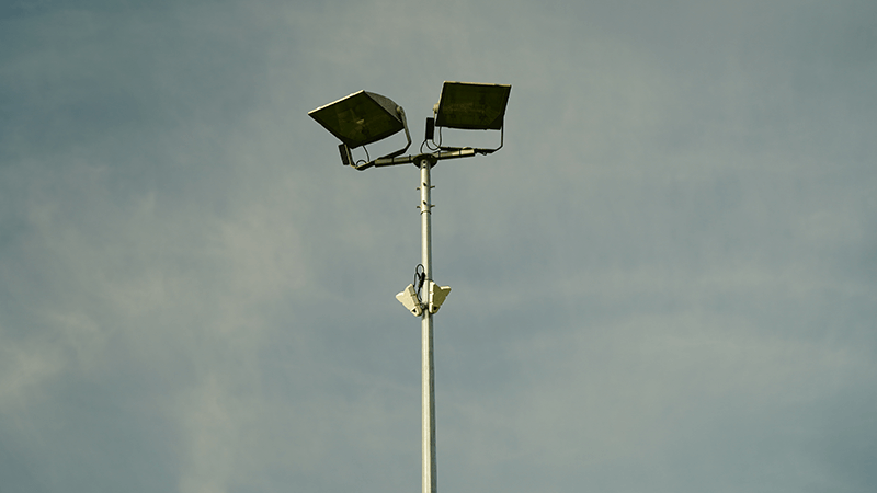 intelligent play sensors on floodlights at rectory park northolt london